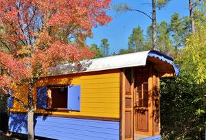 Gîte Insolite, cabane entre les arbres à Gagnières - Les Vans entre Gard et Ardèche